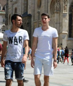 two young men on Stefansplatz