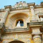 Picture of yellow church in Antigua, Guatemala