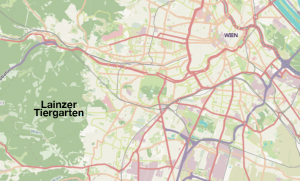 Map of Lainzer Tiergarten outside of Vienna