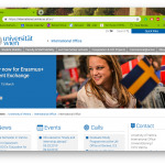 Screen Shot from the International Student webpage from the Uni-Wien