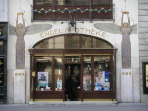 exterior of an Austrian pharmacy