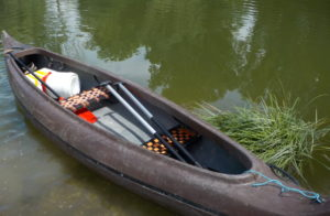 image of canoe in water